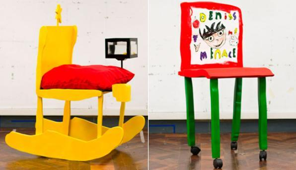 Desenhos de criança dão forma a linha exclusiva de mobiliário na Inglaterra. Estudantes de escola britânica, entre sete e oito anos, desenharam sua cadeira dos sonhos, entre as quais duas se tornaram reais pelas mãos dos artistas criadores do projeto, Jack Beveridge e Joshua Lake