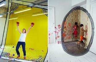 Artistas pintam grandes molduras e criam retratos vivos que brincam com a perspectiva. O trabalho da dupla francesa Ella & Pitr concebe ilusões de ótica e dá nova vida a construções em ruínas de Saint-Étienne