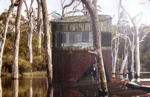 Para tornar o contato com a natureza mais intimista, arquitetos projetam casas na árvore com desenhos diferenciados para prêmio da área