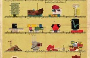 Artista desenha a arquitetura por trás de célebres canções