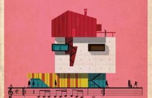 Artista desenha a arquitetura por trás de célebres canções. Na foto, representação de Space Oddity, de David Bowie