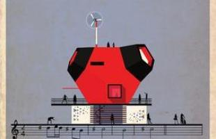 Artista desenha a arquitetura por trás de célebres canções. Na foto, representação de Joga, de Bjork