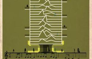 Artista desenha a arquitetura por trás de célebres canções. Na foto, representação de Love Will Tear Us Apart, de Joy Division