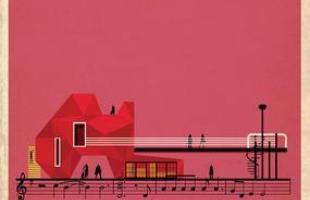 Artista desenha a arquitetura por trás de célebres canções. Na foto, representação de  Hey Joe, de Jimi Hendrix