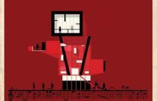 Artista desenha a arquitetura por trás de célebres canções. Na foto, representação de Billie jean, de Michael Jackson