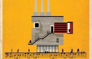 Artista desenha a arquitetura por trás de célebres canções. Na foto, representação de Smells Like Teen Spirit, do Nirvana