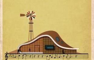 Artista desenha a arquitetura por trás de célebres canções. Na foto, representação de River man, de Nick Drake