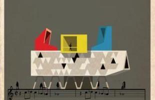 Artista desenha a arquitetura por trás de célebres canções. Na foto, representação de Every Breath You Take, do The Police