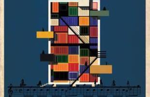 Artista desenha a arquitetura por trás de célebres canções. Na foto, representação de No Surprises, do Radiohead