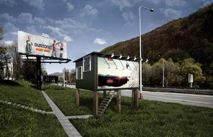Projeto propõe transformar outdoors em pequenas moradias. Ideia de arquitetos da Eslováquia é aberto para ser aplicado em qualquer local do planeta e pretende ser alternativa para o déficit habitacional enfrentado pela maioria das grandes cidades