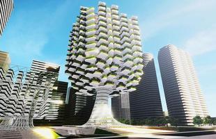 Fazenda vertical é projetada para o centro da capital da Coreia do Sul. Batizado de Skyfarm, o edifício terá o formato de uma árvore gigante e poderá abrigar 144 mil m² de área verde