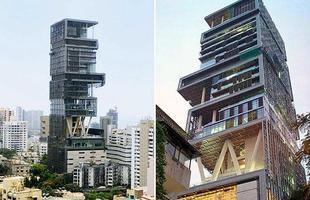 Esta casa em Bombaim, na Índia, que na verdade é um prédio de 27 andares, é considerada a maior do mundo, e está avaliada em US$ 1 bilhão