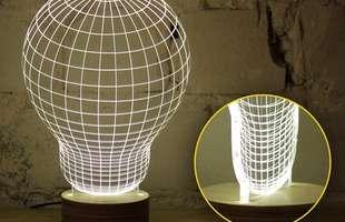 Designer usa ilusão de ótica para criar luminárias incríveis