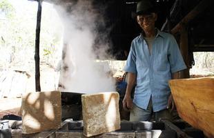 Culinária tradicional: rapadura do Sr. Argemiro Pacheco, no povoado de Boa Vista - Serro