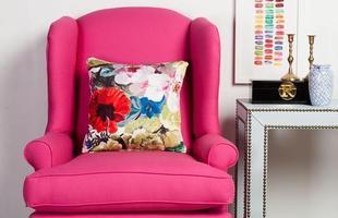 Detalhes em rosa na decoração