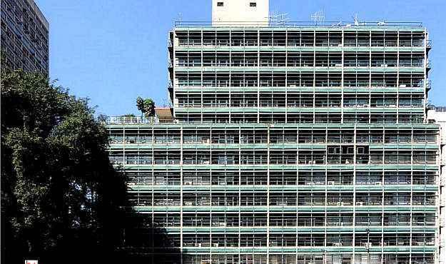 Edifício na Alameda Santos, em São Paulo, antes da reforma. Projeto do arquiteto Rino Levi (Otec/Divulgação)