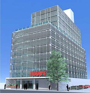 Perspectiva do prédio depois da proposta de intervenção apresentada pela equipe vencedora (Otec/Divulgação)