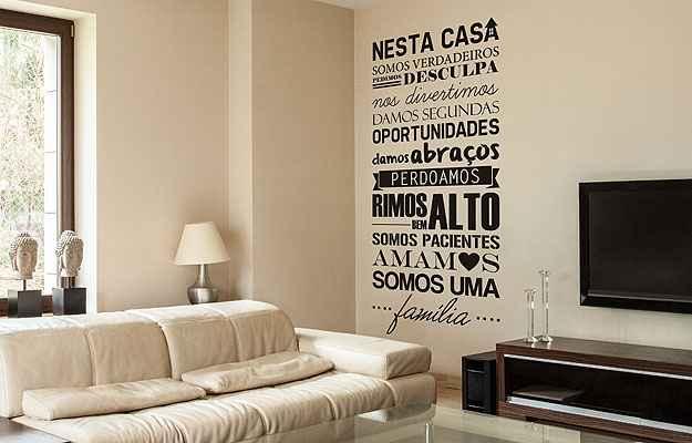 Frases imprimem personalidade e um clima descontra do aos for App para decorar casas