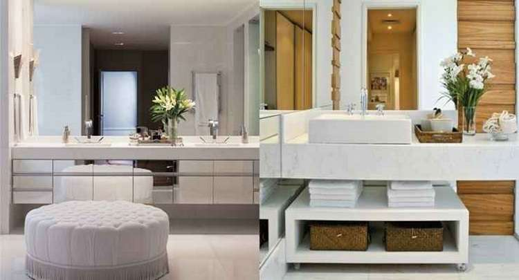 Pedra é o material mais indicado para as bancadas do banheiro