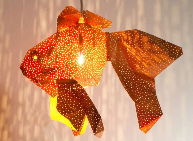 Designers criam belas luminárias em papel inspiradas na vida aquática