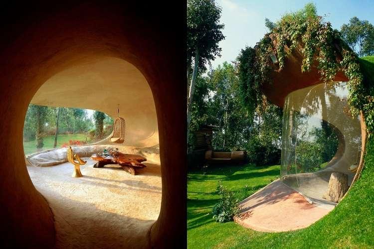 Morada orgânica com pegada Hobbit homenageia a natureza e convida ao relaxamento
